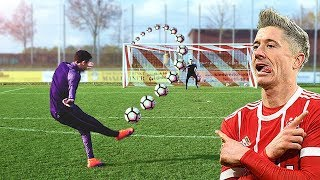 Lewandowski vs freekickerz ⚽ Free Kick Shootout