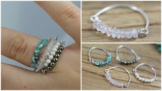 DIY Bead & Wire Stacked Rings: Jewelry Tutorial