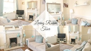 LIVING ROOM TOUR | GREY, WHITE & DUCK EGG BLUE | HOME RENOVATION