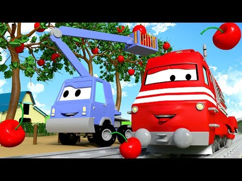 Troy The Train and Chuck the Cherry Picker in Car City | Cars & Trucks cartoon for children