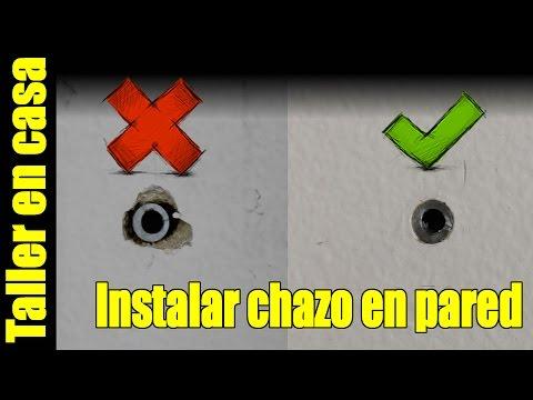 Como instalar un chazo/taquete en la pared usando un taladro