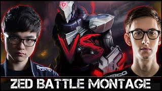 Zed Montage [Battle]: Faker vs Bjergsen