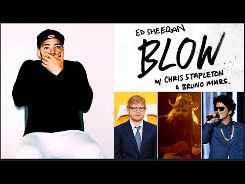 Ed Sheeran - BLOW (with Chris Stapleton & Bruno Mars) [Official Lyric Video] REACTION