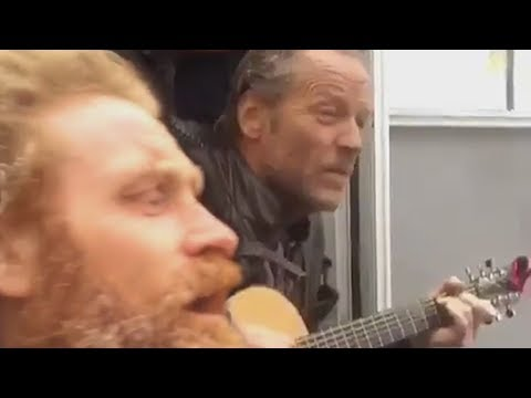 After hearing about Jerome Flynn being in a duo I found this video of Jorah, The Hound, Tormund, and Beric playing and singing together during down time.