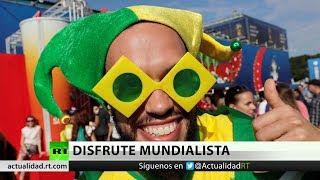 Así se vive la previa de Brasil-Costa Rica en las calles de San Petersburgo
