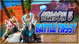 FIRST LOOK AT FORTNITE SEASON 5 BATTLE PASS! *ALL NEW ITEMS*