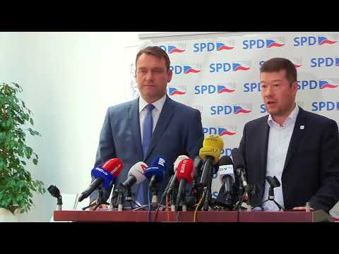 Tomio Okamura: Tiskovka SPD 22.5.2018