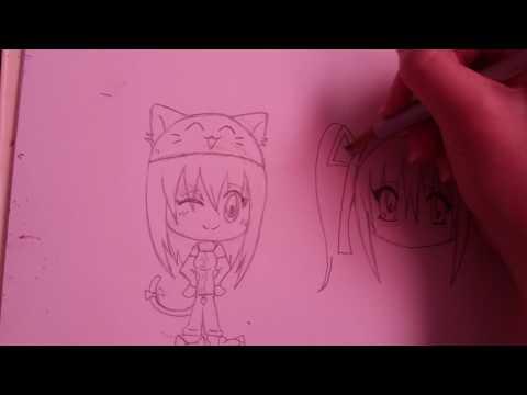 How to draw chibi pj girl