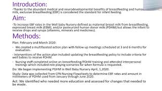GOLD: Interventions to Increase Exclusive Breastfeeding Rates in Well Baby Nursery