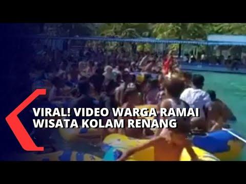 viral video kerumunan warga di lokasi wisata kolam renang di tengah pandemi corona