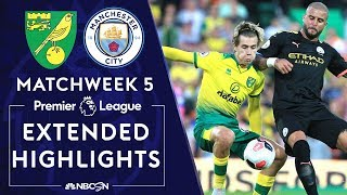 Goals from Kenny McLean, Todd Cantwell and Teemu Pukki earned the injury-ravaged Norwich City a famous victory over Manchester City at Carrow Road. #NBCSports #PremierLeague #NorwichCity #ManCity #KennyMcLean #ToddCantwell #TeemuPukki » Subscribe to NBC Sports: https://www.youtube.com/nbcsports » Watch Live Sports on NBCSports.com: http://www.nbcsports.com/live » Get more Premier League news on NBC Sports: https://www.nbcsports.com/soccer  NBC Sports Group serves sports fans 24/7 with premier live events, insightful studio shows, and compelling original programming. NBC Sports is an established leader in the sports media landscape with an unparalleled collection of sports properties that include the Olympics, NFL, Premier League, NHL, NASCAR, PGA TOUR, the Kentucky Derby, Tour de France, French Open, IndyCar and many more. Subscribe to our channel for the latest sporting news and highlights!  The Premier League across NBC Sports Group launched in 2013 with their biggest and broadest programming commitment to-date in the United States. With live multi-platform coverage of all 380 games, analysis from best-in-class talent and extensive surrounding coverage all week long, NBC Sports Group has become the ultimate destination for new and existing Premier League fans.  The Premier League maintains strong and consistent reach across NBC, NBCSN, CNBC, and NBC Sports Group's live streaming products, led by the biggest stars and most prestigious teams in the world.  Visit NBC Sports: https://www.nbcsports.com Find Premier League on NBC Sports: https://www.nbcsports.com/soccer/premier-league Find NASCAR on NBC Sports: https://www.nbcsports.com/motors/nascar Find Sunday Night Football on NBC Sports: https://www.nbcsports.com/nfl/sunday-night-football Find NBC Sports on Facebook: https://www.facebook.com/NBCSports Follow NBC Sports on Twitter: https://twitter.com/nbcsports Follow NBC Sports on Instagram: https://www.instagram.com/nbcsports/  Norwich City v. Manchester City | PREMIER LEAGUE HIGHLIGHTS | 9/14/19 | NBC Sports https://www.youtube.com/nbcsports