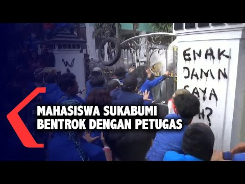 mahasiswa sukabumi bentrok dengan petugas