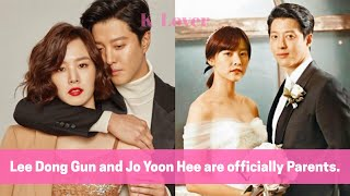 Lee Dong Gun And Jo Yoon He Are Parents! *Jo Yoon Hee Gave Birth*