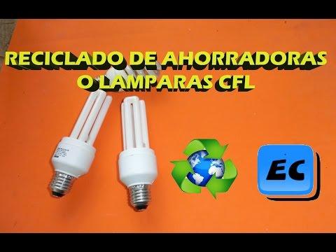 Que  hacer con las lamparas ahorradoras o de bajo consumo rotas o quemadas