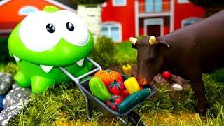 Игрушки для самых маленьких— АмНям иживотные для малышей— Ухаживаем закоровой исобираем овощи