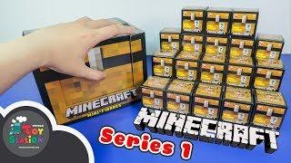 Mở 18 rương Minecraft chest series 1 tìm thấy nhân vật vàng GOLD ToyStation 227