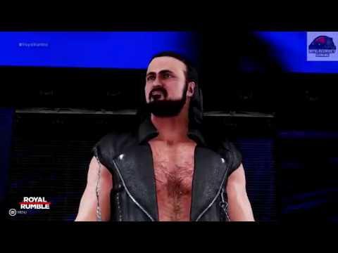 WWE 2K19 - Aj Styles vs Drew McIntyre - Intercontinental Championship Match Royal Rumble PPV !!
