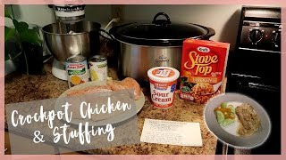 Crockpot Chicken with Stuffing | Easy Kid Friendly Dinner