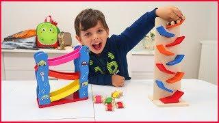 Yankı İçin Yeni Sürpriz Ahşap Arabalar ile Oynadık Çok Eğlendik l Çocuk Videosu l Prens Yankı