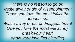 Basia - Love Lies Bleeding Lyrics