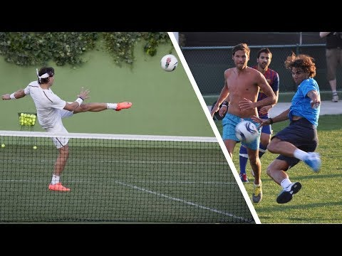 Awesome Rafael Nadal Football Skills!