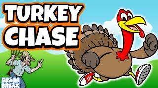 Turkey Chase! - Thanksgiving PE Game