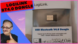 LogiLink Bluetooth V4 Dongle BT0015 Nano Adapter #Plug&Play Ideal für Laptop und PC