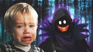 DEMON SCARES LITTLE KID IN FORTNITE! (HIS MOM GETS ON THE MIC)