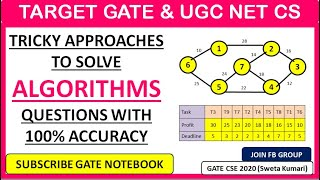 9 PM -Tricky Approaches To Solve Algorithms Questions Easily  - GATE &  UGC NET CS Exam