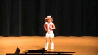 6 year old tap dances to Miley Cyrus Ice Cream Freeze