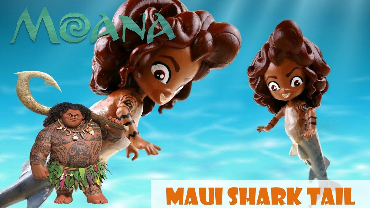 Disney Moana Movie Maui Doll Shark Tail Custom | Evies Toy House