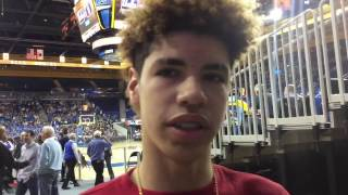 LaMelo Ball interviewed about half-court shot; Lonzo Ball weighs in