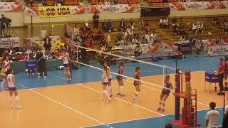 アメリカVSセルビアスパイク練習バレーボール