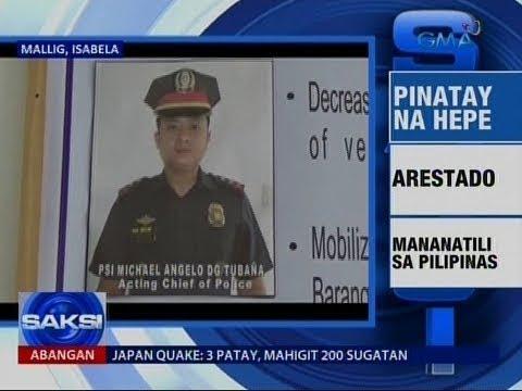 [GMA]  Saksi: Hepe ng Mallig Police sa Isabela, pinatay ng nanlaban na drug suspect