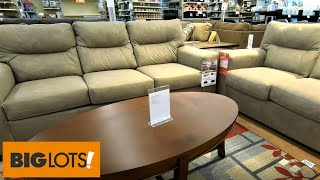 BIG LOTS SHOP WITH ME HOME FURNITURE SOFAS ARMCHAIRS KITCHENWARE DECOR SHOPPING STORE WALK THROUGH
