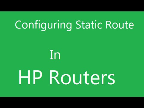 Configuring static routes in HP routers