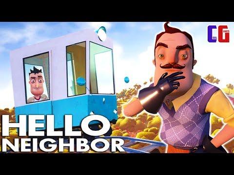 КАТАЮСЬ в ВАГОНЕ по ДОМУ СОСЕДА! Прохождение АКТ 3 Привет Сосед Мультяшный хоррор Hello Neighbor видео