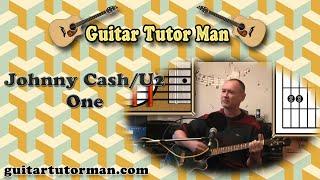 One - Johnny Cash / U2 - Acoustic Guitar Lesson