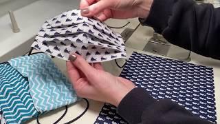 Kako doma sešijemo pralno zaščitno masko, z žičko in žepkom za filter