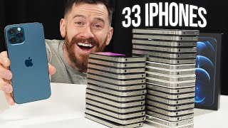 I Bought An Apple Return Lot With 33 iPhones On eBay!!
