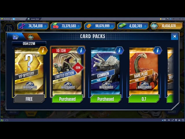 How To Get Free Card Packs In Jurassic World
