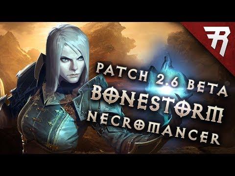 BONE STORM Necromancer Build - Diablo 3 2.6 Season 11