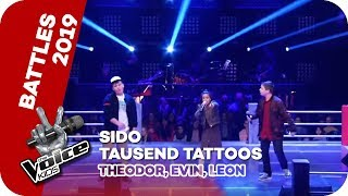 Sido   Tausend Tattoos (Theodor, Evin, Leon) | Battles | The Voice Kids 2019 | SAT.1