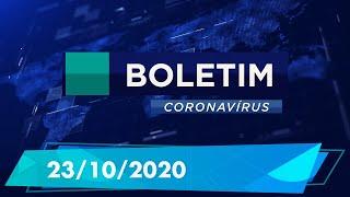 Boletim Epidemiológico Coronavírus 23/10/2020