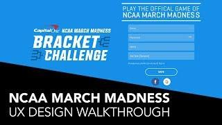 NCAA March Madness Bracket Challenge   UX Design Walkthrough   2019