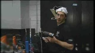 Kris Letang stick room video