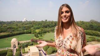 Miss Universe 2016 Iris Mittenaere visits Taj Mahal