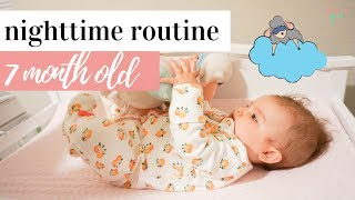 7 MONTH OLD BABY NIGHTTIME ROUTINE | REAL LIFE BEDTIME ROUTINE | Kayla Buell