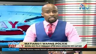 Mathira West police chief interdicted - VIDEO