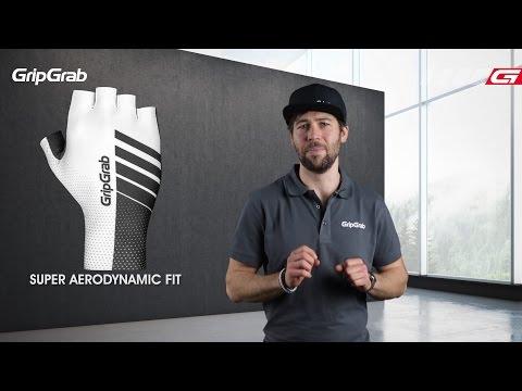 Grip Grab Aero Handsker sort/hvid title=